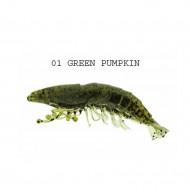 """SHRIMP 2,5"""" GREEN PUMPKIN"""