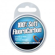 SAVAGE SOFT FLUOROCARBON 35M 0.39MM 9.4KG 21LBS CLEAR