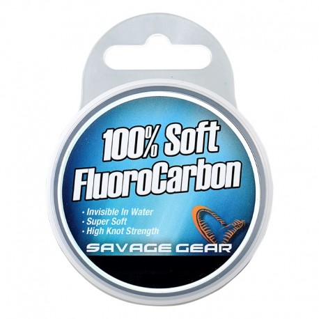 SAVAGE SOFT FLUOROCARBON 50M 0.26MM 4.7KG 10.3LBS CLEAR