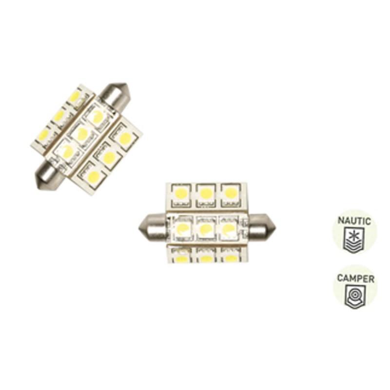 LAMPADINA SILURO 9 LED (Luce Calda)