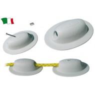 PASSACORDA TERMINALE PVC GRIGIO