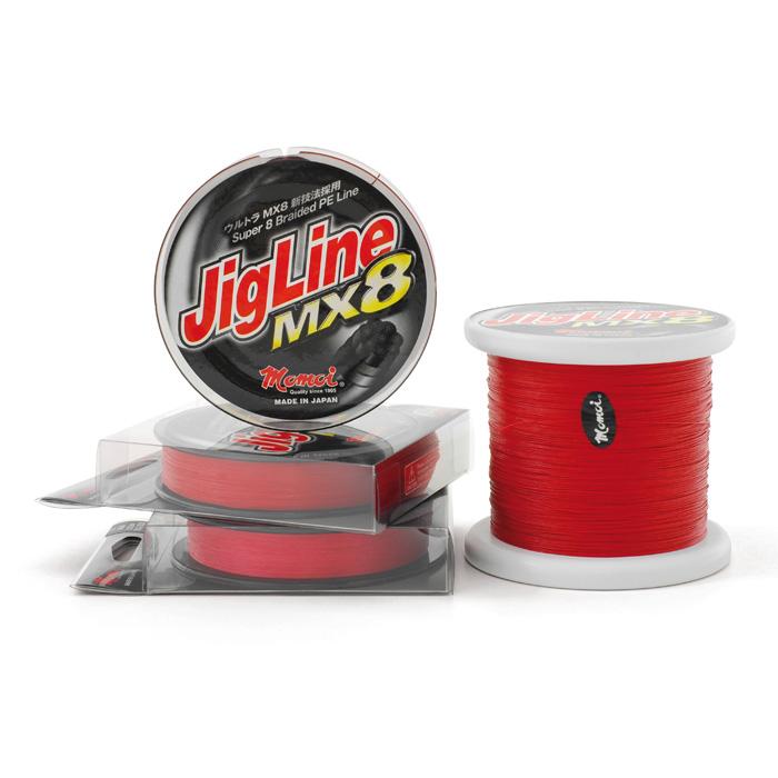 JIGLINE MX8 rosso 300MT 0,23MM